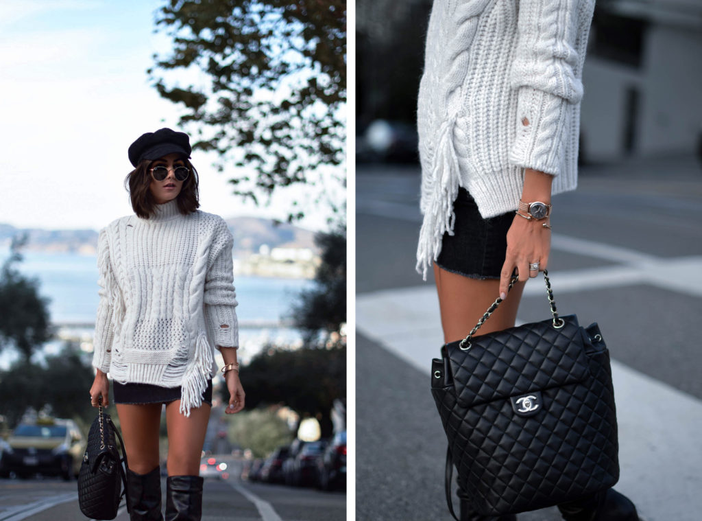collage chanel backpack